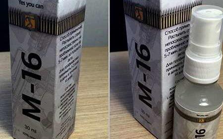 Упаковка и спрей М16 для потенции