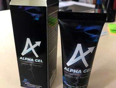Лицевая сторона упаковки и тюбика геля Альфа гель.